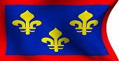 stock photo of anjou  - Flag of Anjou France against white background - JPG