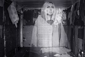 image of wraith  - Photo of a Ghost in an abandoned room - JPG