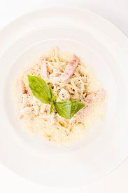 stock photo of carbonara  - Spaghetti Carbonara  - JPG