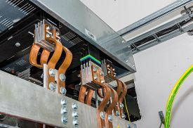 picture of transformer  - Closeup view on transformer on the site - JPG