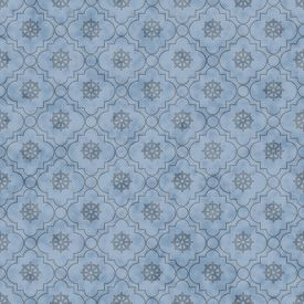 stock photo of dharma  - Pale Blue Wheel of Dharma Symbol Tile Pattern Repeat Background that is seamless and repeats - JPG