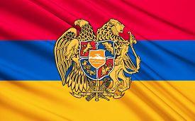 image of armenia  - The national flag of Armenia the Armenian Tricolor or Yeraguyn - JPG