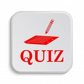stock photo of quiz  - Quiz icon - JPG