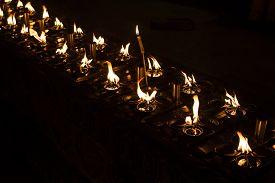 image of meenakshi  - Ritual candles in Shwedagon Pagoda in Myanmar - JPG
