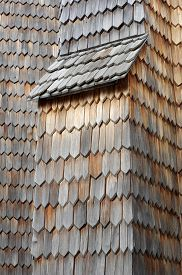 stock photo of shingles  - Wooden shingle old architecture detail structure background - JPG