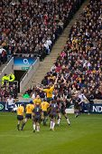TWICKENHAM LONDON - NOVEMBER 13: Lineout at England vs Australia Investec Rugby Match on November 13
