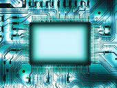Blank chip on circuit board