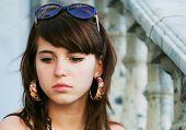 Portrait of sad young woman