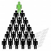 pic of human pyramid  - pyramid composed from people  - JPG