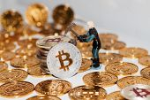 Bitcoin Mining Concept poster