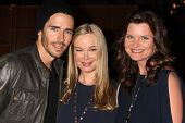 LOS ANGELES - MAY 17:  Brandon Beemer, Jennifer Gareis, Heather Tom at the Bold & Beautiful Celebrat