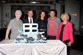 LOS ANGELES - MAY 17:  Susan Flannery, Brad Bell, Heather Tom, Scot Clifton, Lee Bell at the Bold &