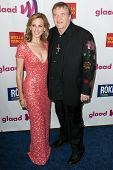 LOS ANGELES - APR 10: Marlee Matlin (L) and Meat Loaf (R) arrive at the 22nd annual GLAAD Media Awar