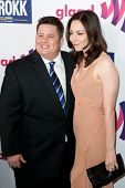 LOS ANGELES - APR 10: Chaz Bono (L) and Jennifer Elia (R) arrive at the 22nd annual GLAAD Media Awards at Westin Bonaventure Hotel on April 10, 2011 in Los Angeles, CA.
