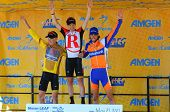 MT. BALDY, CA - MAY 21: Levi Leipheimer, Chris Horner, and Laurens Ten Dam share the podium after th