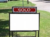 Blank Metal Sold Sign