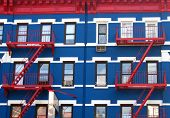 Red White And Blue Facade
