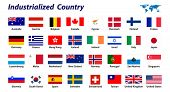 32 Industrialized country flags