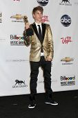 LAS VEGAS - MAY 22:  Justin Bieber in the Press Room of the 2011 Billboard Music Awards at MGM Grand