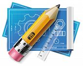 picture of xxl  - Vector technical drawing XXL icon - JPG