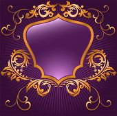 Purple Shaped Shield