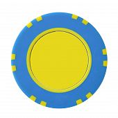 Yellow-Blue Casino Chip
