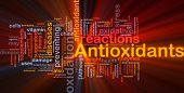 stock photo of food chain  - Background concept wordcloud illustration of antioxidants health nutrition glowing light - JPG