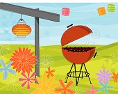 picture of bbq party  - Retro - JPG