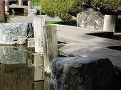 Japanese Garden Wooden Bridge