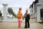 preschoolers entering the school