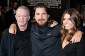 HOLLYWOOD, CA. - DEC 7: Dicky Eklund, Christian Bale, and Sibi Blazic (L-R) arrive at the Los Angele