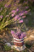 Bunch Of Lavender In Small Knitted Basket poster