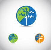 Tree Icon,  good for ecological logotype poster