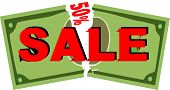 sale coupon; vector illustration
