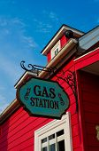Red Gas Station
