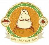 Groundhog Day.vector Label