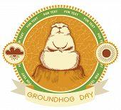 Groundhog Day.vector Label