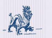 Hand drawn chinese dragon