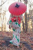 Asian Woman Wearing Japanese Traditional Kimono With Sunset Background,kimono Japanese Dress,japanes poster