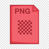 Png File Icon. Cartoon Illustration Of Png File Vector Icon For Web poster