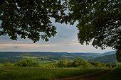 Summer Landscape Shot In The Eifel In Germany. poster