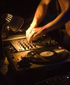 Dj's Hands On The Decks At The Urban Night During Exeter Respect Festival July2008