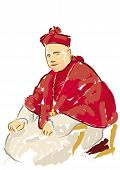 stock photo of cardinal  - illustration of a Catholic cardinal - JPG