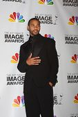 LOS ANGELES - FEB 17:  Aaron B. Spears in the Press Room of the 43rd NAACP Image Awards at the Shrin