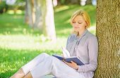 Best Self Help Books For Women. Books Every Girl Should Read. Girl Concentrated Sit Park Lean Tree T poster