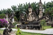 Buddha Statues At The Beautiful And Bizarre Buddha Park In Vientiane, Laos. poster