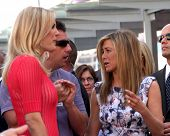 LOS ANGELES - FEB 22:  Malin Akerman; Adam Sandler; Jennifer Aniston at the Jennifer Aniston Hollywood Walk of Fame Star Ceremony at the W Hollywood on February 22, 2012 in Los Angeles, CA.