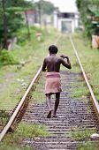 Unidentified Asian Man On Railway Lines.