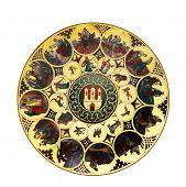 Zodiac From Astronomical Clock, Prague