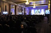 LONDON - JANUARY 30: Conference in the Sheraton Park Lane Ball Room during the 59th UICH les Clefs d
